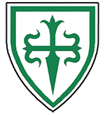 Device: Argent, a cross of Santiago within an orle vert.