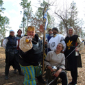 Northshield under the leadership of HRM Hagan take the flag in the rapier ravine battle at Gulf Wars