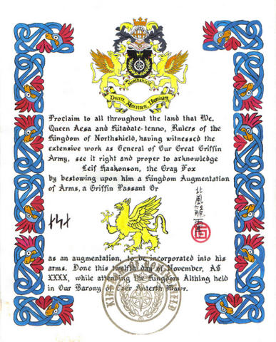 Kingdom Augmentation of Arms