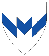 Device: Argent, a chevron fracted inverted azure.