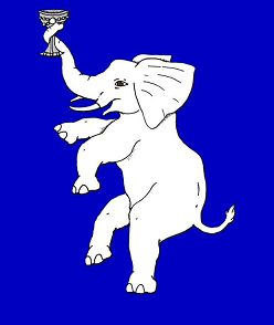 Device: Azure, an elephant rampant maintaining in its trunk a goblet argent