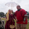 Baroness Abbey Kegslayer being escorted by HE Wulfgar